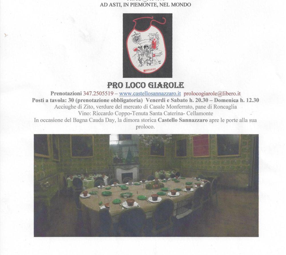 Castello Sannazzaro -  volantino bagnacaudaday2017versionedefinitiva
