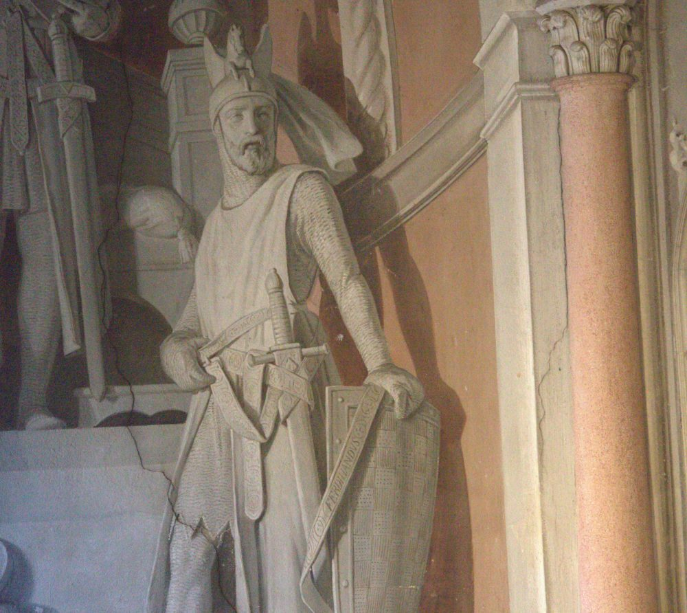 Castello Sannazzaro -  foto affresco ingresso dettaglio Ferdinando