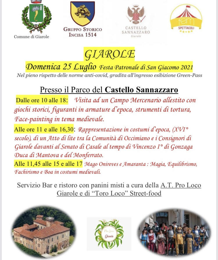 Castello Sannazzaro -  locandina del 25072021